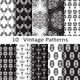 Set of ten vintage patterns Stock Photos