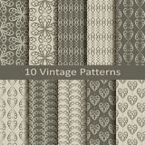 Set of ten vintage patterns Stock Image