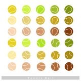 Set of Tennis Balls on White Background Stock Images