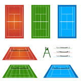 Set of Tennis Courts Stock Image