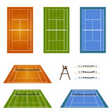 Set of Tennis Courts 2 Stock Photography
