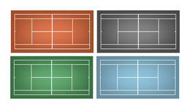 Set of tennis courts Stock Photography