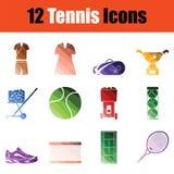 Tennis icon set Royalty Free Stock Photo