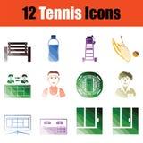 Tennis icon set Stock Photos