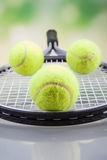 A set of tennis. Racket and ball. Royalty Free Stock Image