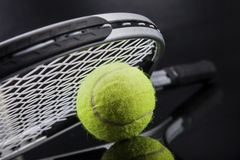 A set of tennis. Racket and ball. Royalty Free Stock Photography