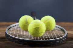 A set of tennis. Racket and ball. Stock Photography