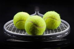 A set of tennis. Racket and ball. Stock Image