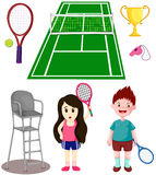 Set of tennis sport Royalty Free Stock Image