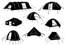 Set Of Tents Isolated Stock Photo