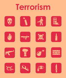 Set of terrorism simple icons Stock Photography
