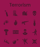 Set of terrorism simple icons. It is a set of terrorism simple web icons Stock Photography