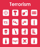 Set of terrorism simple icons Stock Image