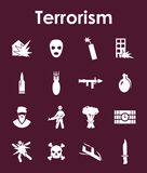 Set of terrorism simple icons. It is a set of terrorism simple web icons Stock Images