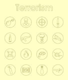 Set of terrorism simple icons Royalty Free Stock Photo