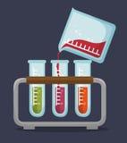 Set test tube rack liquid Stock Images