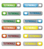 Set of testimonials button Royalty Free Stock Photo