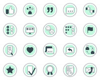 Set of testimonials related  icons. Royalty Free Stock Photography