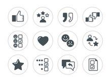Set of testimonials related  icons. Stock Photos