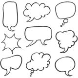 Set of text bubble hand draw. Vector illustration Stock Photos