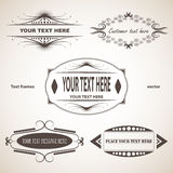 Set of text frames Stock Photo