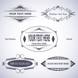 Set of text frames Royalty Free Stock Photo