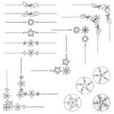 A set of text separators and ornaments for text, pages. Vector EPS10 Royalty Free Stock Image