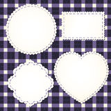 Set of textile labels. Eps 8 vector illustration Royalty Free Stock Images