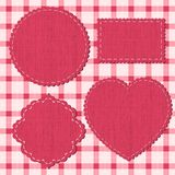Set of textile labels. Eps 8 vector illustration Royalty Free Stock Photos