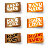 Set of textile labels Stock Photography