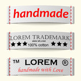 Set of textile labels Royalty Free Stock Photography