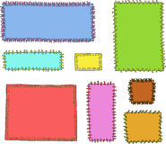 Set textile patches Royalty Free Stock Photography