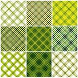 Set Textilnahtlose Muster. vektor abbildung
