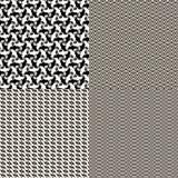 set textur dekorativa fyra Arkivfoton