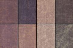 set textur för läder Arkivbild
