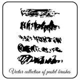 Set of texture brushes Pastel. Brush to paint fine black brush strokes dry oil pastel Stock Photo
