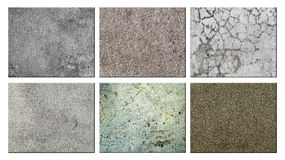Set of texture concrete. Royalty Free Stock Photo