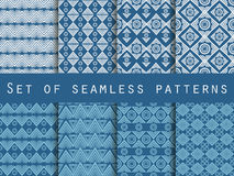 Set the texture seamless in ethnic style. Geometric seamless pattern. For wallpaper, bed linen, tiles, fabrics, backgrounds. Vecto Royalty Free Stock Images