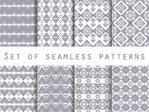 Set the texture seamless in ethnic style. Geometric seamless pattern. For wallpaper, bed linen, tiles, fabrics, backgrounds.  Stock Photography