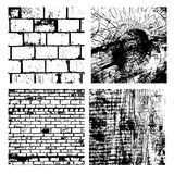 Set of Texture Stamp eps 10 Grunge  wooden  and brick Royalty Free Stock Photo