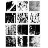 Set of Texture Stamp eps 10 Grunge and wooden shapes Royalty Free Stock Images