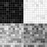 Set texture tile floor white, gray and black Stock Photos