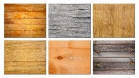Set of texture wood. Stock Photos