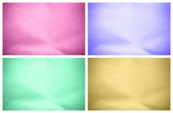 Set of textured backgrounds. In different colors Royalty Free Stock Image