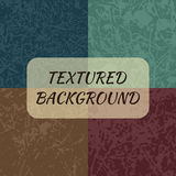 Set of 4 textured backgrounds. Stock Photo