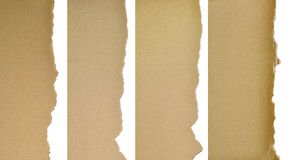 Set Of Textured Cardboard With Torn Edges Stock Photography