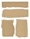 Set Of Textured Cardboard With Torn Edges Royalty Free Stock Image
