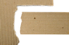 Set Of Textured Cardboard With Torn Edges Stock Photo