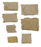 Set Of Textured Cardboard With Torn Edges Royalty Free Stock Images