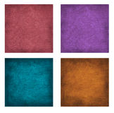 Set of textured paper backgrounds Stock Photography